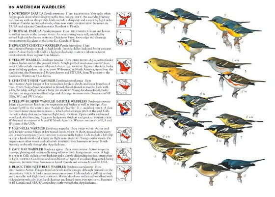 sample pages from Birds of North America and Greenland