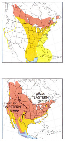 Range maps from National Geographic Field Guide to the Birds of North America, Sixth Edition