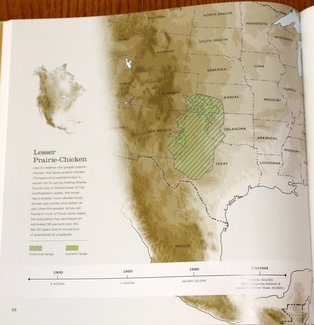 Sample range map from Save the Last Dance: A Story of North American Grassland Grouse