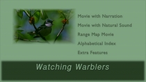 Watching Warblers DVD menu